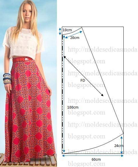 Как сшить юбку длинную дома