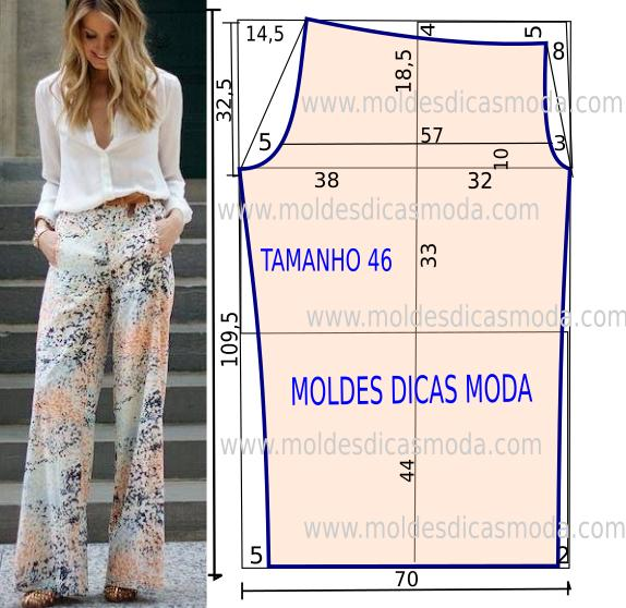 Выкройка брюк: построение и готовые варианты Дама