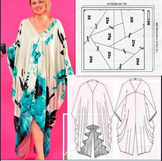 Вот такое платье-балахон будем шить сегодня