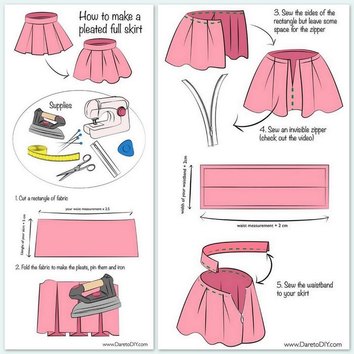 Как сшить юбку татьянка видео