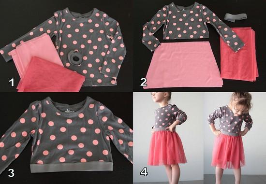 платье для девочки с балетной юбкой
