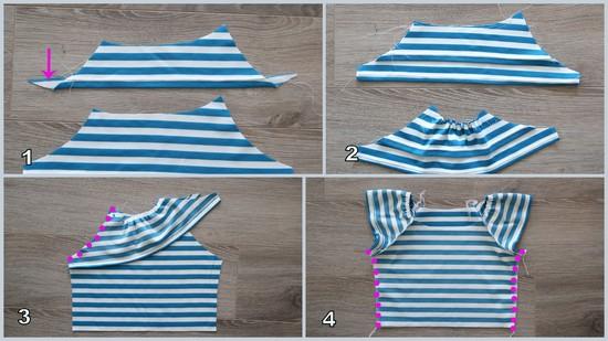 Обработка верха платья