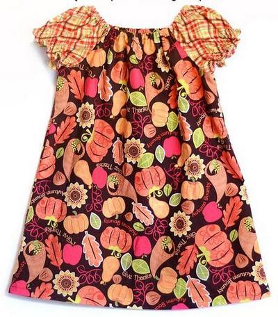 Детское платье-крестьянка