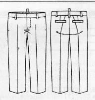 Технический рисунок брюк