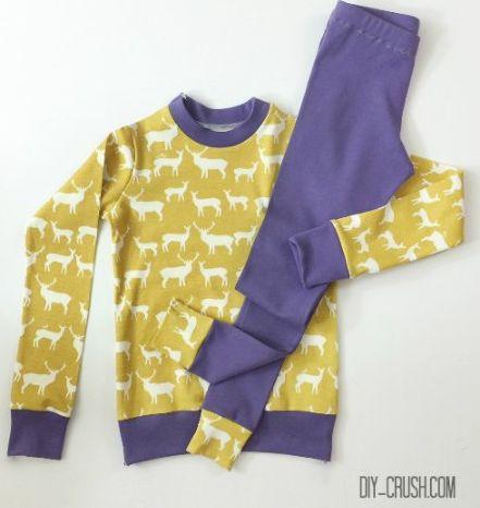 Вот такую детскую пижаму будем шить сегодня