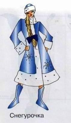 Выкройка костюма Снегурочки из книги